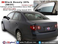 Contoh Mobil Dipasang Kaca Film 3M Black Beauty 35% BB35
