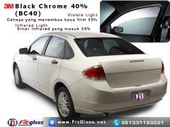 Contoh Mobil Dipasang Kaca Film 3M Black Chrome 40%