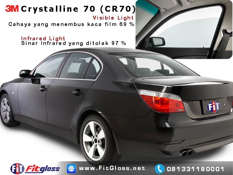 Contoh Mobil Dipasang Kaca Film 3M Crystalline 70% CR70