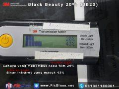 Keunggulan Kaca Film 3M Black Chrome 20% setelah di Tes
