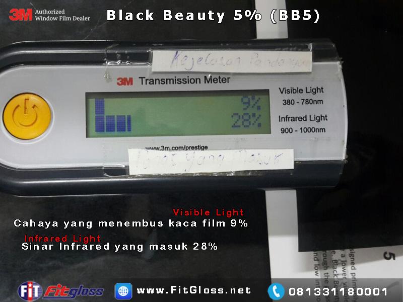 Keunggulan Kaca Film 3M Black Chrome 5% setelah di Tes