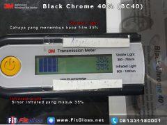 Keunggulan Kaca Film 3M Black Chrome 40% setelah di Tes