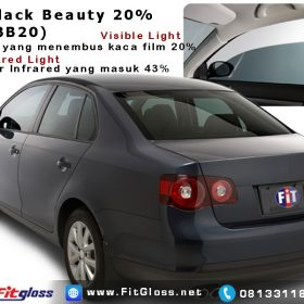 Contoh Mobil Dipasang Kaca Film 3M Black Beauty 20% BB20