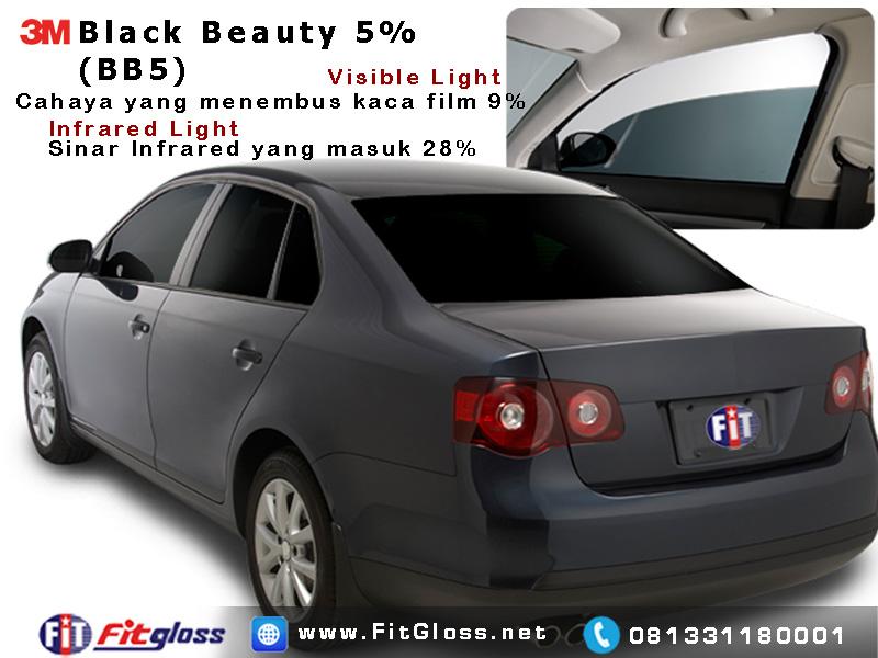 Contoh Mobil Dipasang Kaca Film 3M Black Beauty 5% BB5
