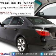 Contoh Mobil Dipasang Kaca Film 3M Crystalline 40% CR40