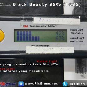KACA FILM 3M TES BLACK BEAUTY 35 BB35 SURABAYA ORIGINAL FITGLOSS SURABAYA SIDOARJO GRESIK MOJOKERTO