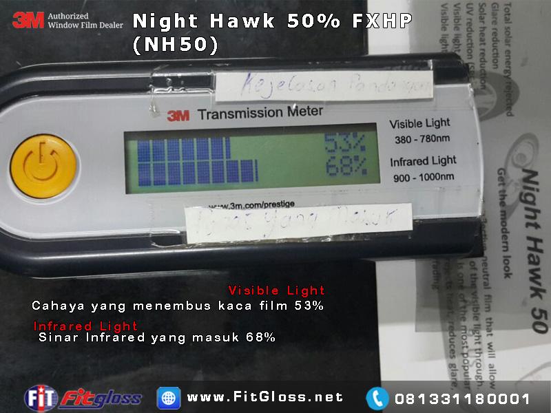 Keunggulan Kaca Film 3M Night Hawk (FXHP) 50% setelah di Tes