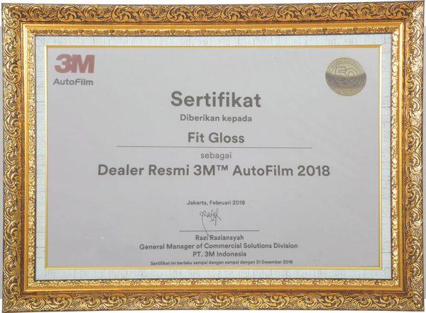 Kaca Film 3M Sertifikat Fit Gloss 2